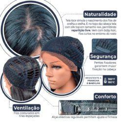 Peruca TOP Lace Front Wig - CAROL